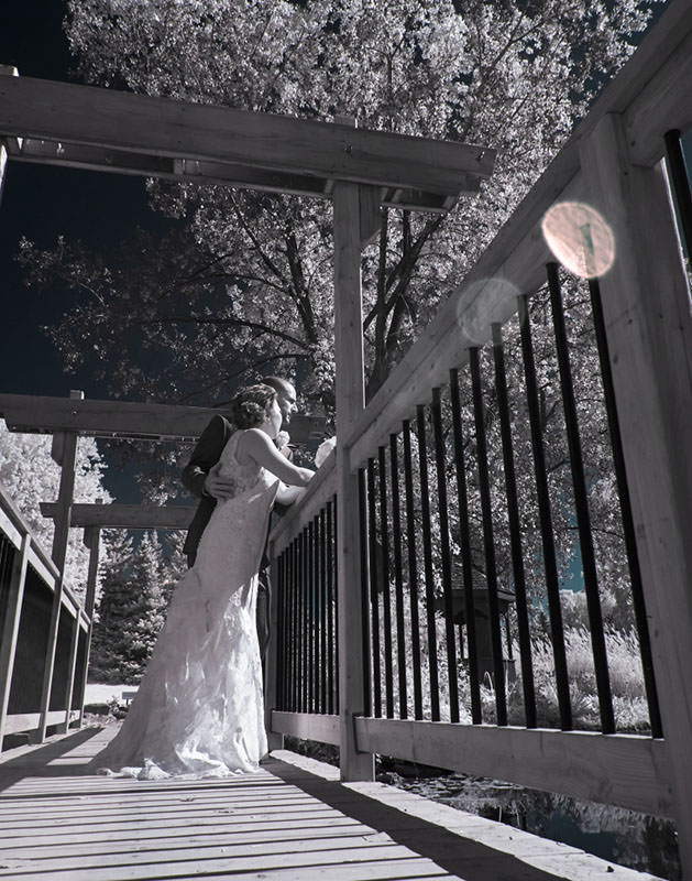 infrared wedding portrait