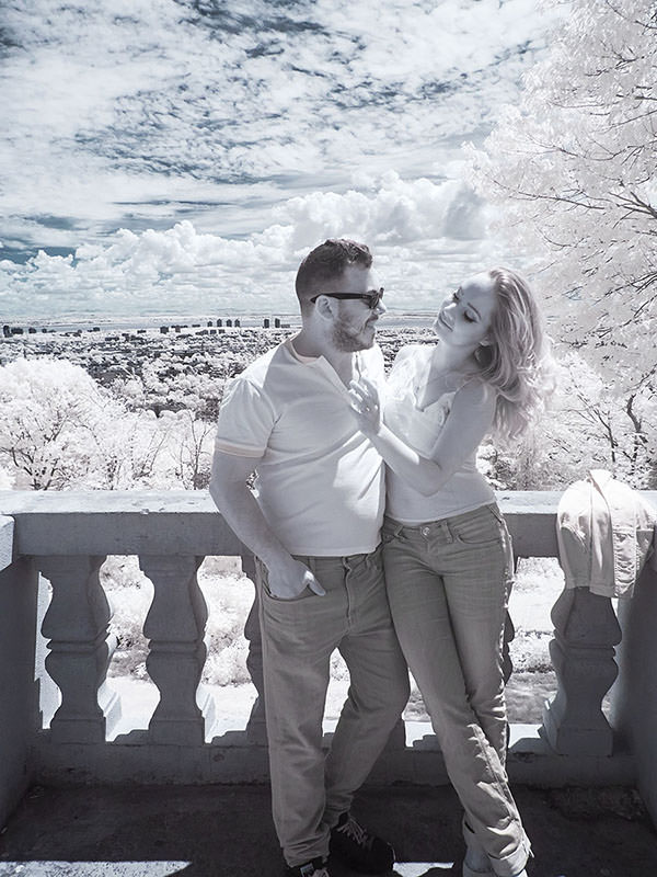 infrared engagement portrait