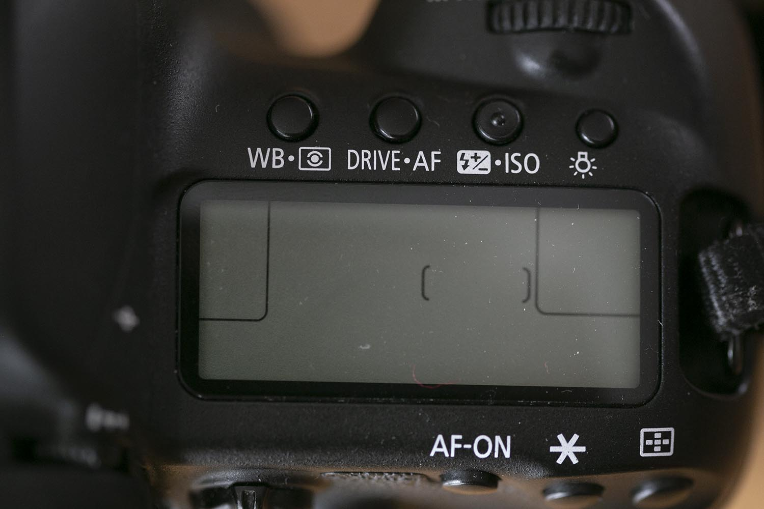 Top view of a Canon 5D IV